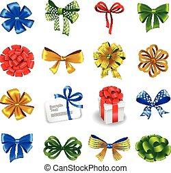 jogo, arcos, presente, ribbons.