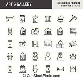 jogo, arte, &, vetorial, galeria, ícone