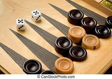 jogo backgammon, com, dados