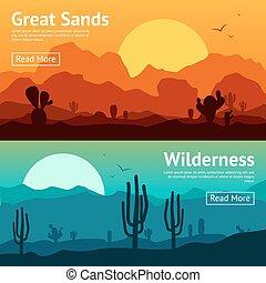 jogo, bandeira, deserto