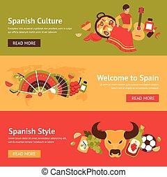 jogo, bandeira, espanha