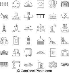 jogo, barril, ícones, estilo, esboço