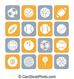 jogo, bolas, esportes