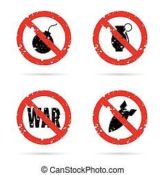 jogo, bomba, arma, ilustração, sinal, vermelho