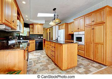 jogo, branca, mobília, eletrodomésticos, cozinha