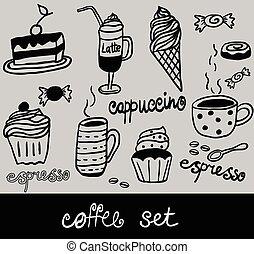 jogo café, vetorial, ilustração