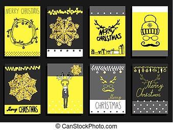 jogo,  calligraphic, vetorial, desenho, Natal, elementos