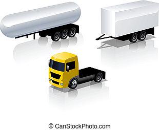 jogo, caminhão, ícones