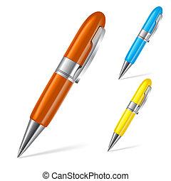 jogo, canetas