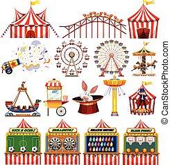 jogo, carnaval, objetos