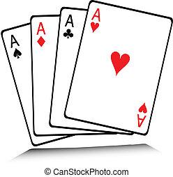 jogo, cartão, ilustração