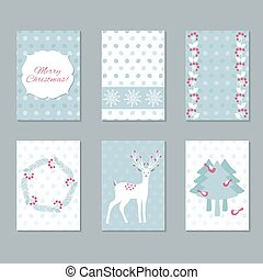 jogo, cartões natal