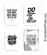 jogo, cartazes, citação
