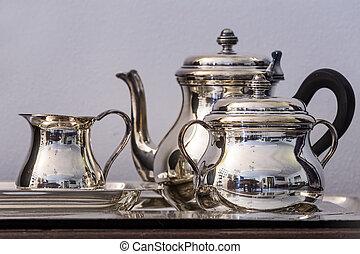 jogo chá, prata