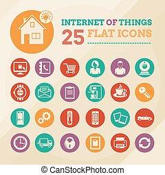 jogo, coisas, internet, lar, esperto, ícone