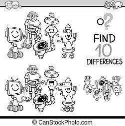 jogo, coloração, diferenças