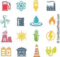 jogo, coloridos, energia, vetorial, conceitos, ícone
