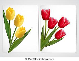 jogo, coloridos, flower., vetorial, bandeiras, illustration.