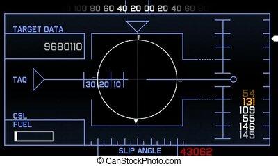 jogo, computador, interface, gps
