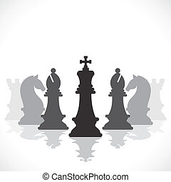 jogo, conceito, xadrez