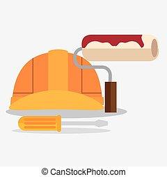jogo, construção, ferramentas, ícone