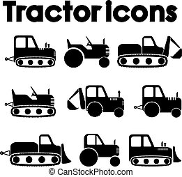 jogo construção, trator, ícone