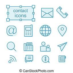 jogo, contactar-nos, ícones