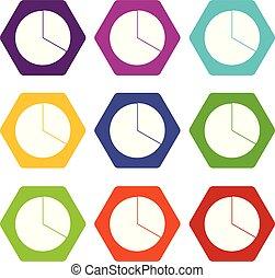 jogo, cor, hexahedron, mapa, infographic, círculo, ícone