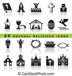 jogo, cristão, ícones