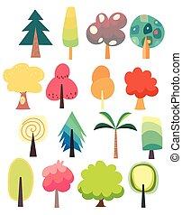 jogo, cute, árvore