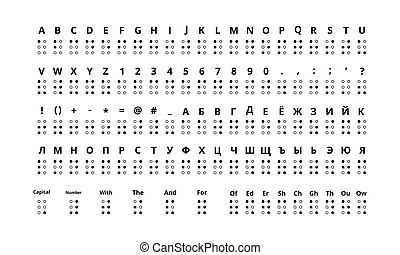 jogo, cyrillic, braille, alfabeto, grande, verdadeiro,...