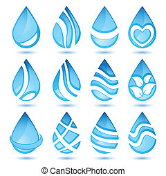 jogo, de, água, símbolos