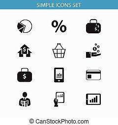 jogo, de, 12, editable, analytics, icons., inclui, símbolos, tal, como, torta, gráfico, saco dinheiro, smartphone, e, more., lata, ser, usado, para, teia, móvel, ui, e, infographic, design.