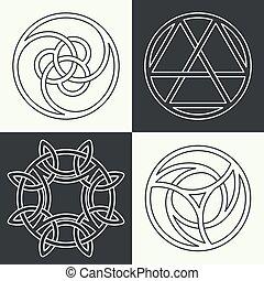jogo, de, a, antiga, símbolos
