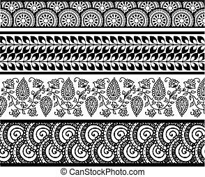 jogo, de, abstratos, padrão, stripes.