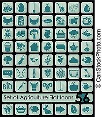 jogo, de, agricultura, ícones