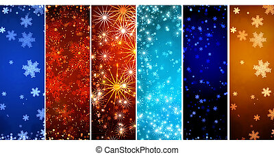 jogo, de, bandeiras, com, natal, fundo, com, snowflakes