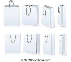 jogo, de, bolsas para compras