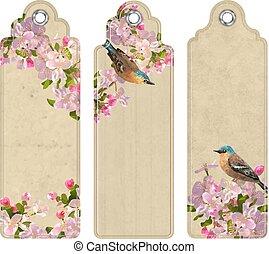 jogo, de, bookmarks, com, flores