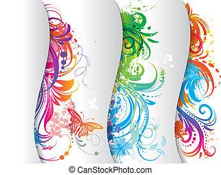 jogo, de, colorido, banner.