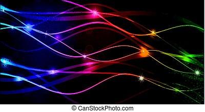 jogo, de, coloridos, fluir, abstratos, linhas