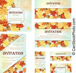 jogo, de, convite, cartões