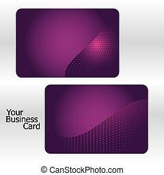 jogo, de, cor-de-rosa, cartões negócio, parte, 8., vetorial, ilustração