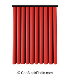 jogo, de, cortinas vermelhas, para, teatro, stage., malha, vetorial, illustration.
