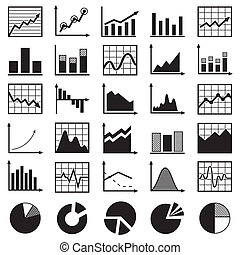 jogo, de, diagramas, e, gráficos, vetorial