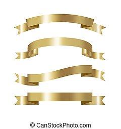 jogo, de, dourado, fita, cobrança, 3d, efeito, com, lugar, para, texto, vetorial, isolado, branco