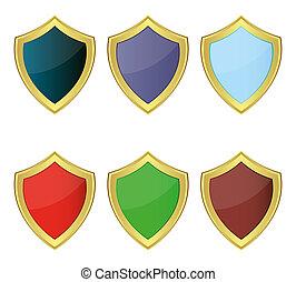 jogo, de, escudos