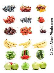 jogo, de, frutas legumes