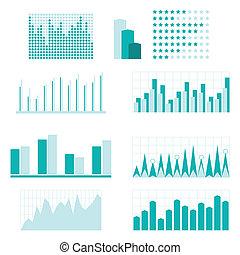 jogo, de, infographic, diagrama, elementos, para, design.