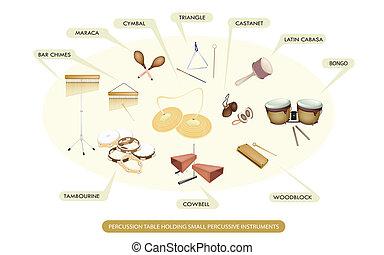 jogo, de, instrumento percussão, para, sinfônico, faixa